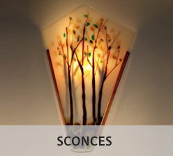Space saving wall sconces