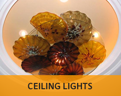 Unique, handcrafted ceiling lights