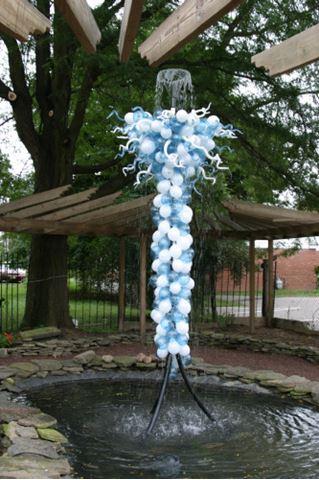 Garden Art Fountain Glass Sculpture