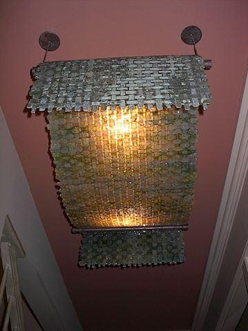 Woven Drape Lighting Fixture