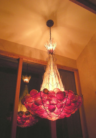 Blown Glass Chandelier | Satsuma Grove