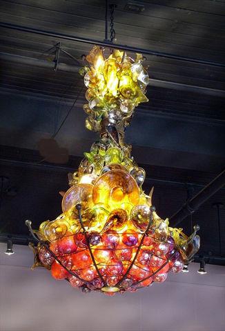 Blown Glass Chandelier | Satsuma