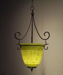 Pendant Light   Chartreuse