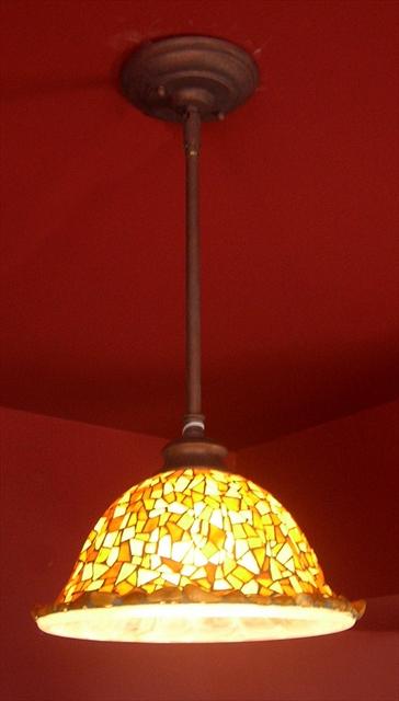Picture of Pendant Light   Glass Mosaic   Golden Jasper