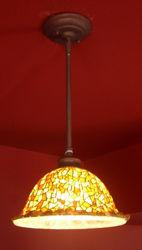 Picture of Pendant Light | Glass Mosaic | Golden Jasper