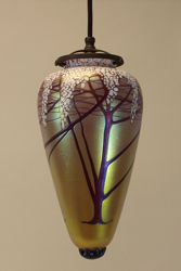 Pendant Light | Gold Cherry Blossom Amphora