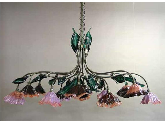 Picture of Blown Glass Chandelier - Pergola