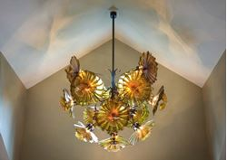 Blown Glass Chandelier - Peony