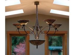 Blown Glass Chandelier - Multi Iris