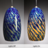 Picture of Blown Glass Pendant Light | Cobalt Iris