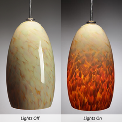 Picture of Blown Glass Pendant Light - Caramel Corn
