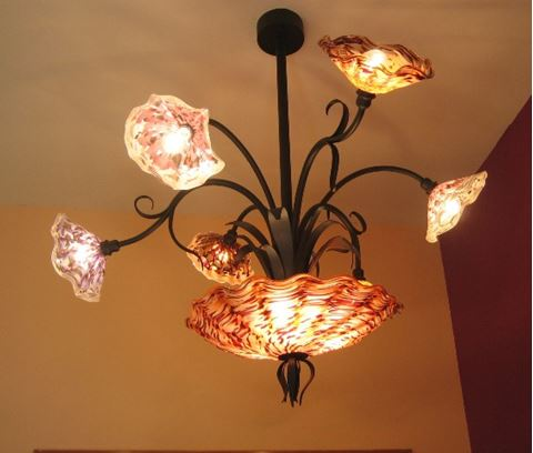 Blown Glass Chandelier - Island Girl