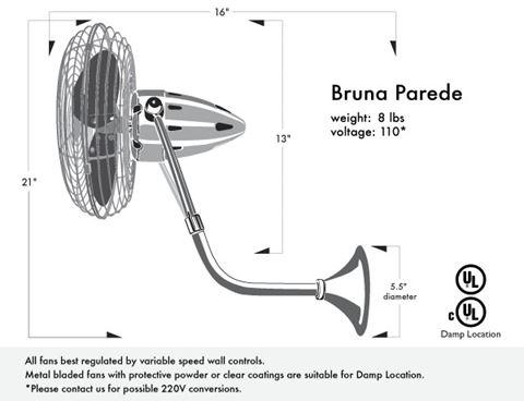 Bruna Parede Wall-Mounted Fan