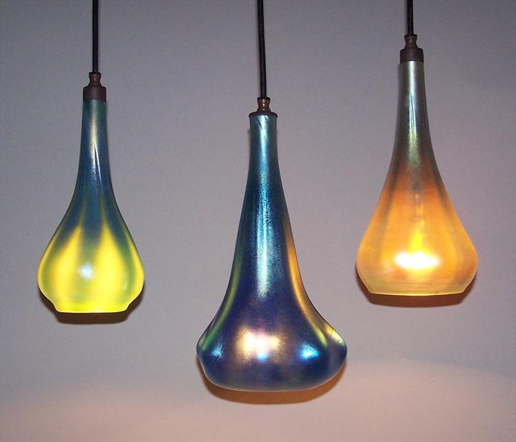 Picture of Pendant Light | Blue Optic Hanging Phoenix Morph