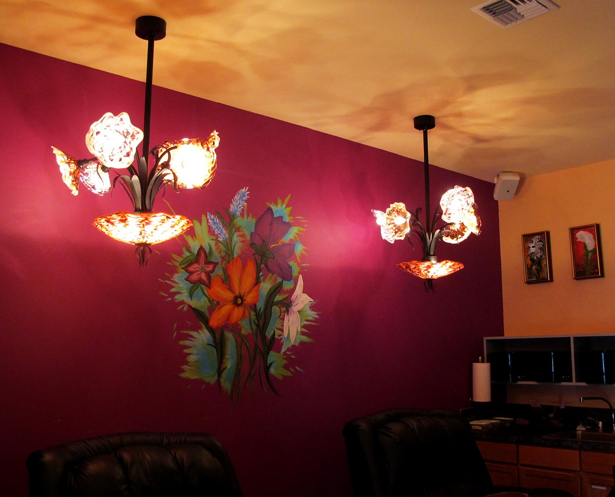 Picture of Blown Glass Chandelier - Island Girl