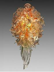 Abadin Blown Glass Chandelier