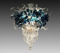 Picture of Aquas Blown Glass Chandelier