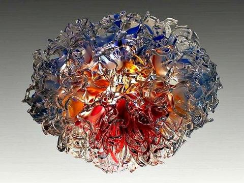 Arctic Fire Blown Glass Chandelier