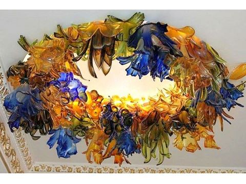 Botanica Custom Blown Glass Chandelier