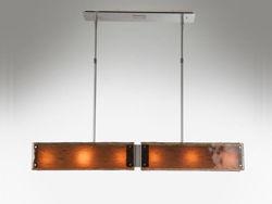 "Linear Chandelier | Textured Glass | 44"""