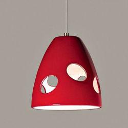 A19 Ceramic Pendant Light | Milano Red
