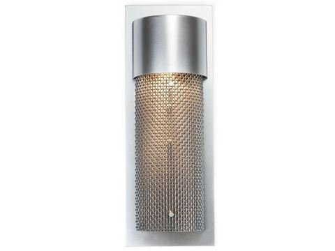 Short Round Mesh Outdoor Cover Sconce
