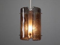 "Pendant Light | Textured Glass | 8"""