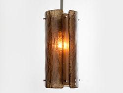 "Pendant Light | Textured Glass | 12"""