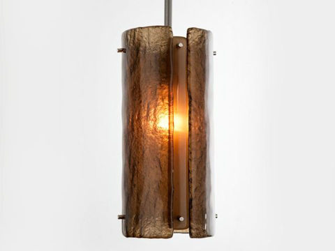 "Pendant Light   Textured Glass   12"""