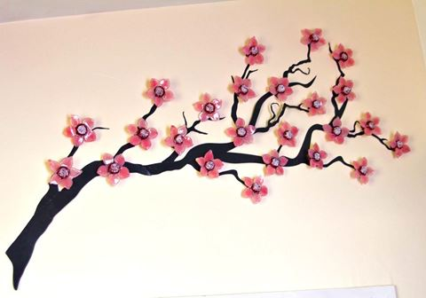 Cherry Blossoms Wall Sculpture