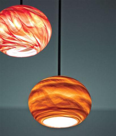 Pendant Light   Rose Globe