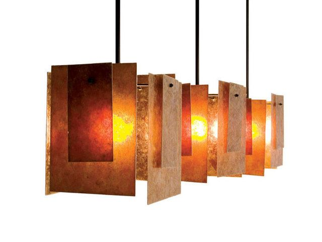 Picture of Spider Mica Triple Pendant Light