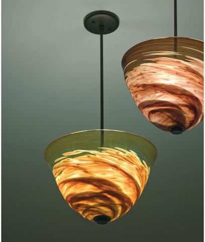 Agua Viva Blown Glass Pendant Light