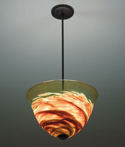 Picture of Agua Viva Blown Glass Pendant Light