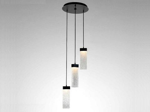 Parallel Collection Round Waterfall Pendant Chandelier 3 pc