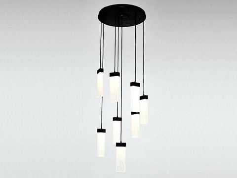Parallel Collection Round Waterfall Pendant Chandelier 8 or 11 pc