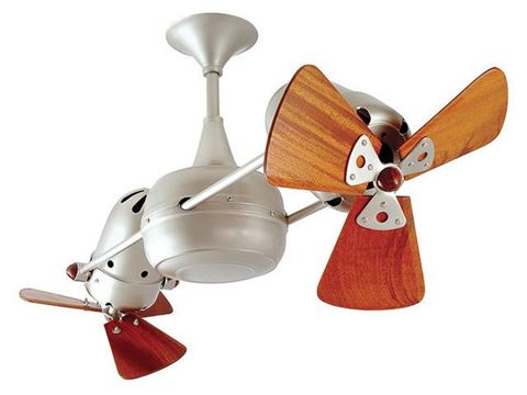 Duplo-Dinamico Ceiling Fan in Brushed Nickel