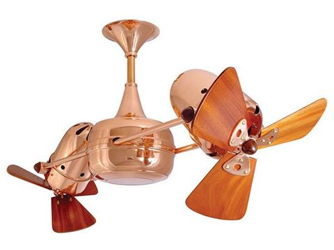 Duplo-Dinamico Ceiling Fan in Polished Copper