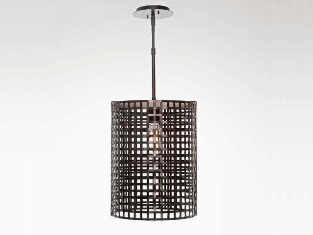 "Picture of Pendant Light | Oversized Tweed Mesh | 16"""