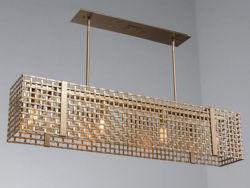"Linear Chandelier | Tweed Mesh | 45"""