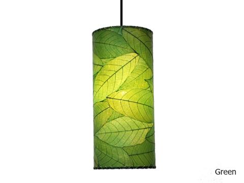 Pendant Light   Cocoa Leaf   Cylinder