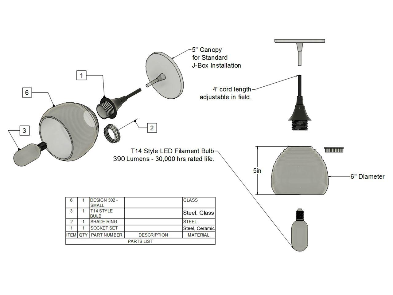 Picture of Pendant Light   Small Teardrop