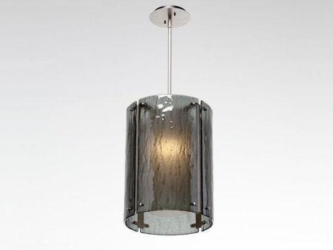 "Pendant Light   Oversized Textured Glass   16"""