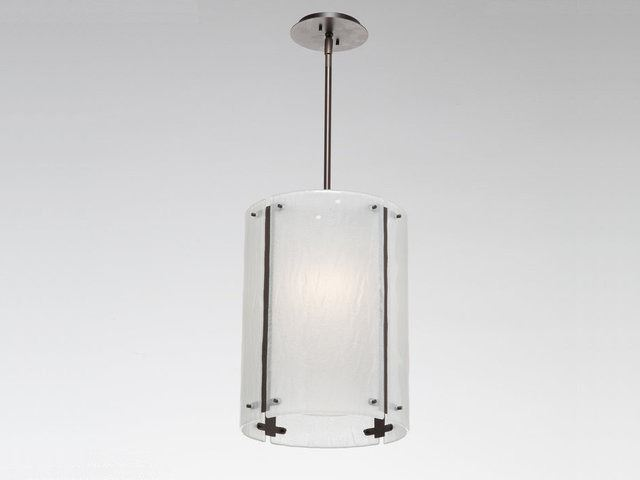 """Picture of Pendant Light   Oversized Textured Glass   16"""""""
