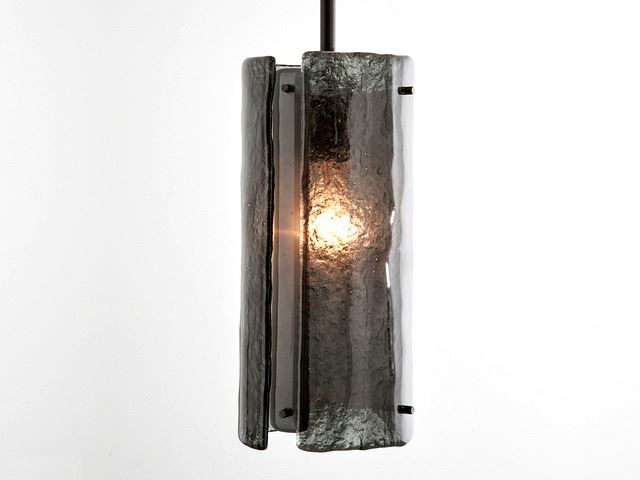 Picture of Textured Glass Square Multi-Port Pendant Chandelier 12 pc