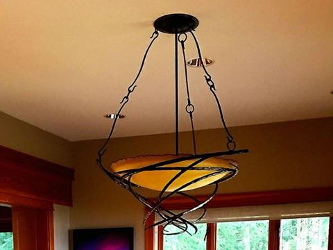 Telluride Glass and Metal Chandelier