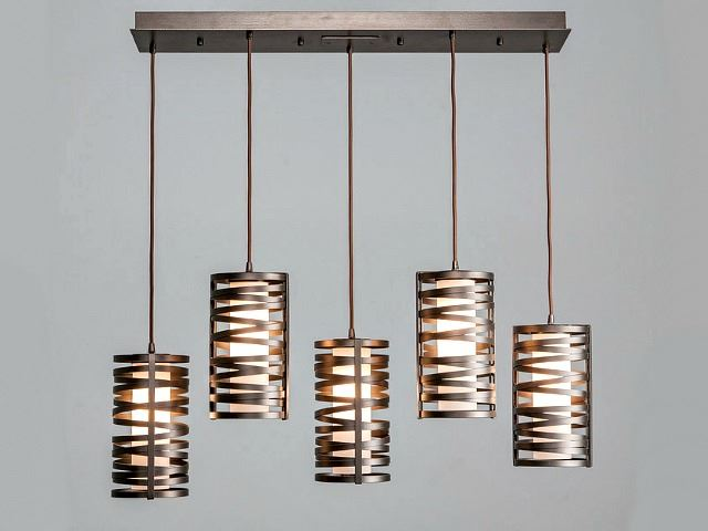 Picture of Linear Chandelier | Tempest | 5 pc