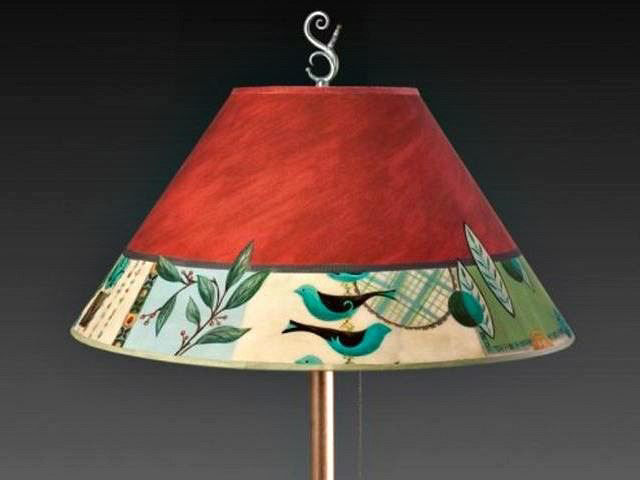 Living Room Floor Lamp Shade | New Capri in Red