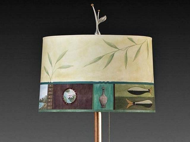 Living Room Floor Lamp Shade | Twin Fish