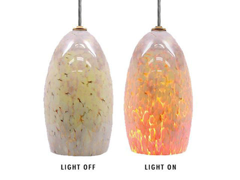 Blown Glass Pendant Light | Moonstone